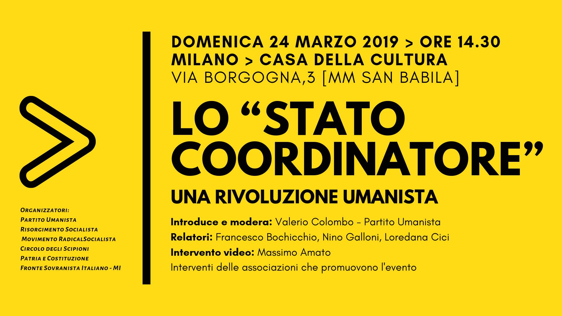 Lo Stato Coordinatore - Una Rivoluzione Umanista