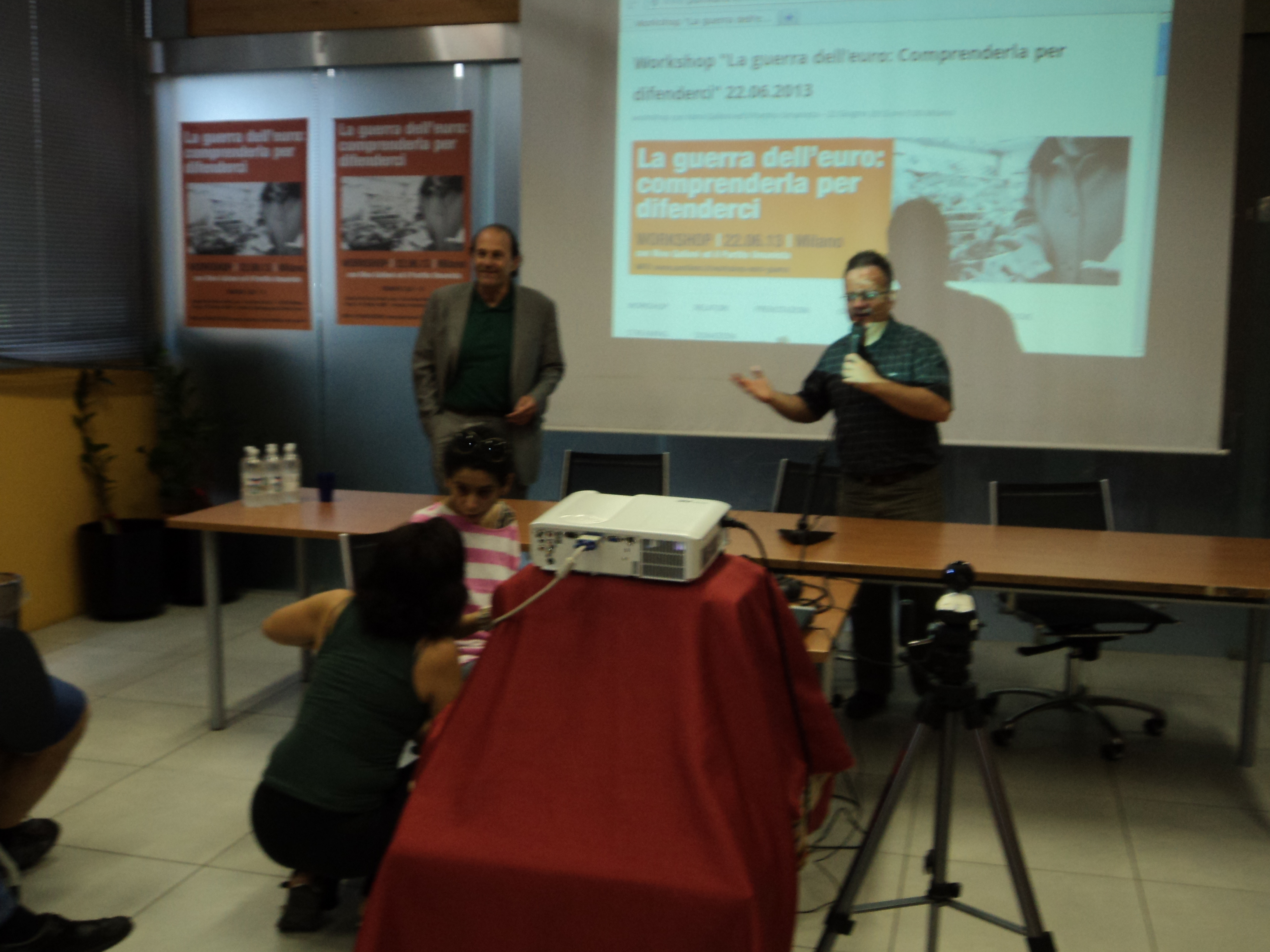 Nino Galloni Pubblico Workshop Guerra Euro